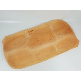 6 osztású fa kínáló
