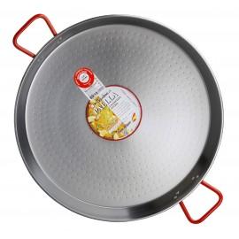 Paella polírozott acél nagy méretű sütőtál, szeletsütő