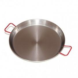 Paella 40cm-es polírozott acél serpenyő