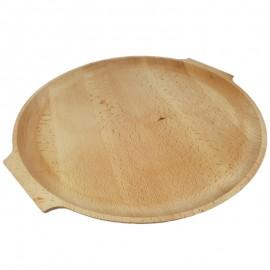 Bükkfa kerek pizzás fatányér