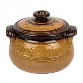 Minőségi mázas cserépedény 4 literes főző kerámia edény