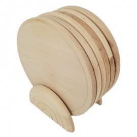 Bükkfa vágódeszka 7 részes készlet tartóval