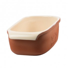 Hosszúkás kerámia kenyérsütő forma