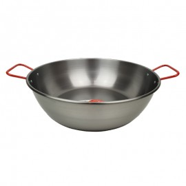 Magas paella serpenyő 36cm-.es acél sütőtál