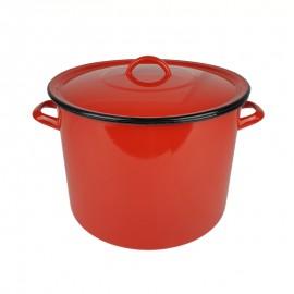 Zománcozott piros fazék 28cm