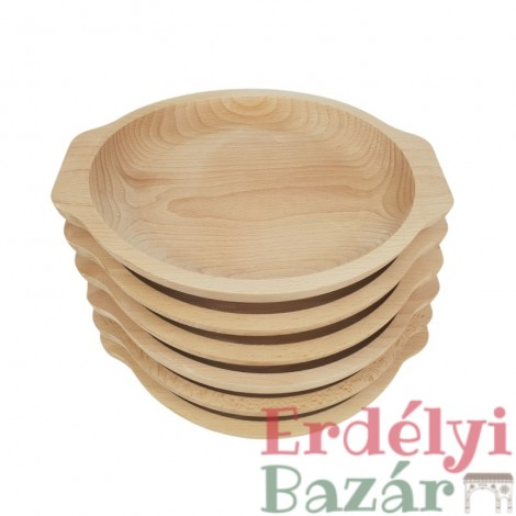 Bükkfa tányér garnitúra 6 részes kerek