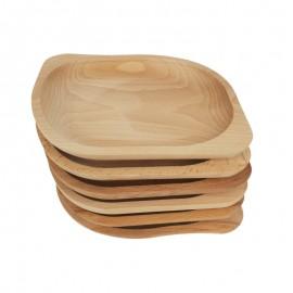 Bükkfa 6 részes tányér garnitúra