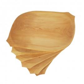 Nagyméretű 6 részes fatányér készlet