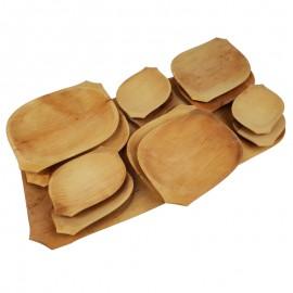 Nagy fa kínálós fatányér készlet 13 részes
