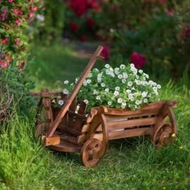 Virágtartó szekér